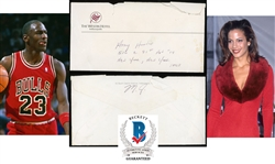 Michael Jordan Handwritten & Signed Envelope to Former Love Interest Amy Hunter (c.1989)(Beckett/BAS Guaranteed)