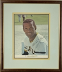 "Roberto Clemente Signed 7.5"" x 9.5"" 1971 Arco Pirates Promotional Color Picture Card (PSA/DNA)"