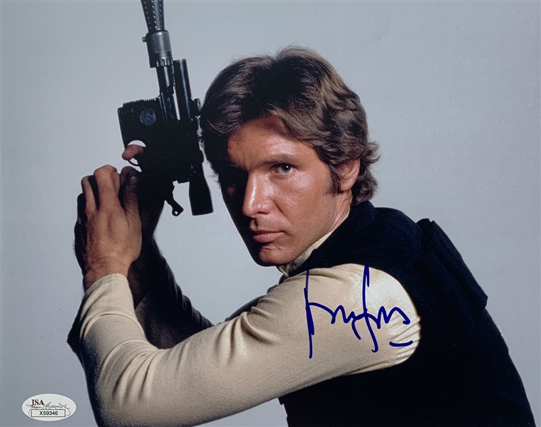Star Wars: Harrison Ford Signed 8 x 10 Color Photo as Han Solo (JSA LOA)
