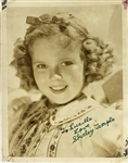 "Shirley Temple Signed Vintage 5.5"" x 7"" Photo with Childhood Autograph! (Beckett/BAS Guaranteed)"