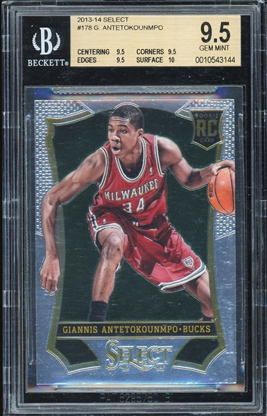 2013-14 Giannis Antetekounmpo Panini Select #178 Rookie Card :: BGS Graded GEM MINT 9.5 with 10 Subgrade!