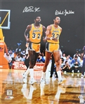 "Magic Johnson & Kareem Abdul-Jabbar Dual-Signed 16"" x 20"" Photograph (Beckett/BAS)"
