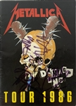 Metallica Group Signed Damage Inc 1986 Tour Program with Cliff Burton! (Beckett/BAS Guaranteed)