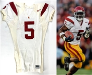 2003 Reggie Bush Game Used Signed USC Trojans Home Jersey :: Photo-Matched to 9-27-03 Game vs. Cal (Resolution Photomatching, Photo-Match.com & Beckett/BAS LOAs)
