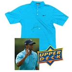 Tiger Woods Signed & 2007 Match Worn NIKE Golf Shirt w/ Exact Photo-Match As Part of PGA Victory 57! (Upper Deck)