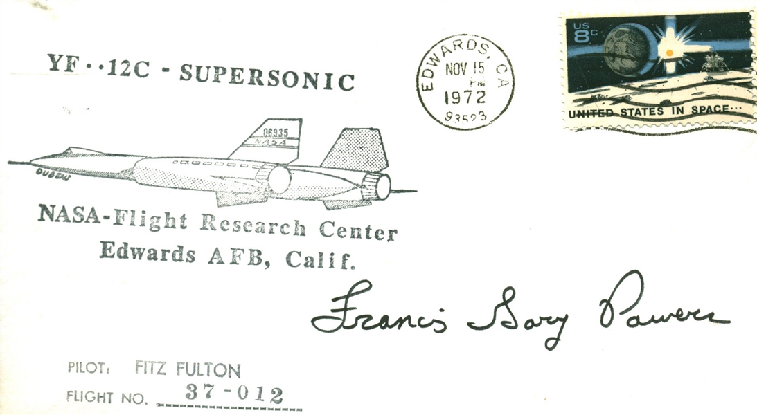 Supersonic Flight: Francis Gary Powers Signed FDC Coveer (JSA)