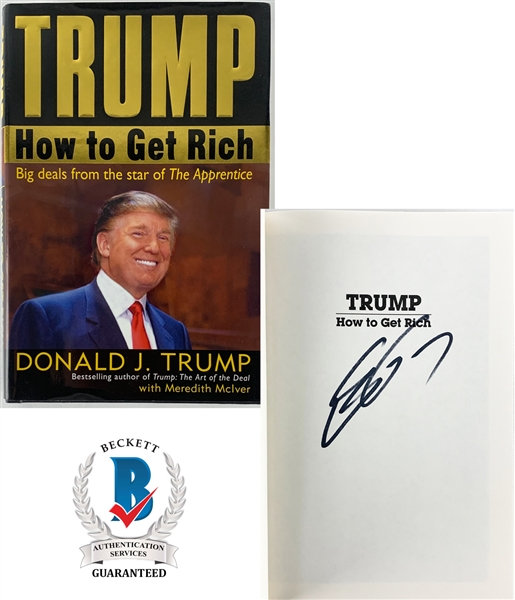 Eric Trump In-Person Signed Hardcover Book: Trump: How To Get Rich (Beckett/BAS Guaranteed)