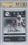 Darrelle Revis Signed 2007 Playoff Contenders #138 Rookie Card (Beckett/BGS Graded GEM MINT 9.5 w/ 10 Auto)