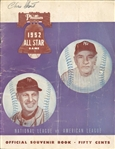 Original 1952 MLB All-Star Game Program - Mickey Mantles 1st All Star Game!