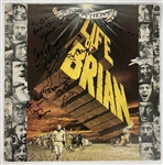 "Monty Pythons ""Life of Brian"" Vintage Signed VHD Album Cover w/ 6 Cast Members! (Beckett/BAS)"