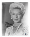 "Lana Turner Signed 8"" x 10"" Black & White Photograph (Beckett/BAS)"
