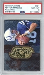 Peyton Manning 1998 SPx Finite Radiance Rookie Card /50 (PSA Graded NM-MT 8)