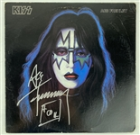 KISS: Ace Frehley Single Signed Solo Album (JSA)