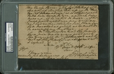 "President George Washington BOLDLY Signed & Handwritten 4"" x 6.5"" Letter (PSA/DNA Encapsulated)"