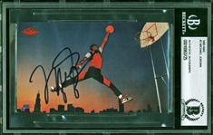 Michael Jordan Signed 1985 Nike Promotional Rookie Card (Beckett/BAS Encapsulated)