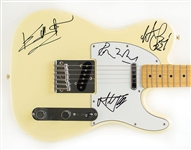 The Rolling Stones Group Signed Fender Squier Telecaster Guitar with Jagger, Richard, Wood & Watts (John Brennan Collection)(Beckett/BAS Guaranteed)