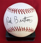 Red Buttons In-Person Signed OAL Baseball (Beckett/BAS Guaranteed)
