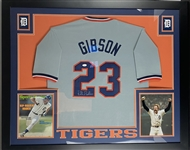 "Kirk Gibson Tigers Signed Jersey Framed 35.5"" x 43.5"" Display (JSA)"