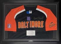 "Frank Robinson Signed Vintage Style Baltimore Orioles Jersey Framed 24.5"" x 35"" Display (PSA/DNA)"