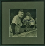 "Mickey Mantle Signed 7.5"" x 7.5"" Sepia Tone Photograph (JSA)"