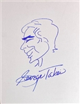 "Star Trek: George Takei 11"" x 14"" Hand Drawn & Signed Self-Portrait Sketch (Beckett/BAS Guaranteed)"