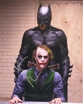 "Christian Bale Signed 16"" x 20"" Color Photo from ""The Dark Knight"" (with Heath Ledger)(Beckett/BAS Guaranteed)"