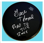 George Thorogood Signed 12-Inch Black Remo Pro Model Drumhead (Beckett/BAS Guaranteed)