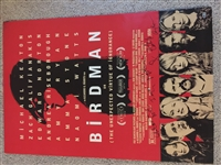 """Birdman"" Cast Signed 27"" x 40"" Double-Sided Movie Poster with Innaritu, Keaton, Stone, etc. (Beckett/BAS LOA)"