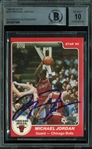Michael Jordan ULTRA RARE Signed 1985 Star Rookie Card #101 - BGS Signature Graded Perfect 10!