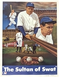 "Babe Ruth: Sultan of Swat Limited Edition 20"" x 26"" Sports Impressions Lithograph Signed by The Artist"