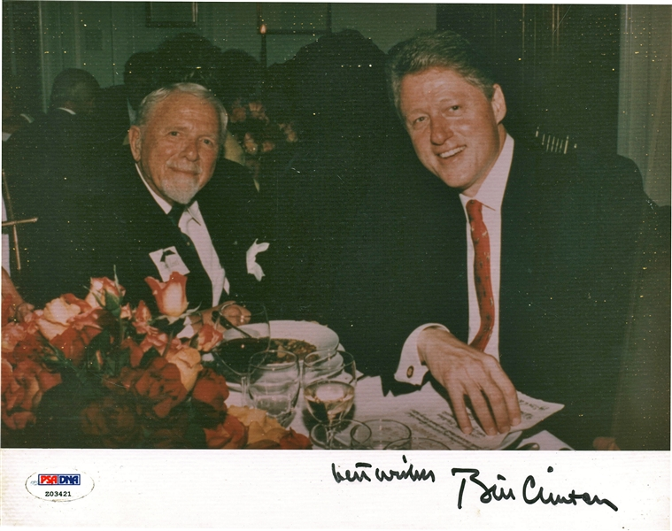 President Bill Clinton Signed 8 x 10 Photograph PSA/DNA MINT 9!