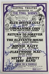 "The Final Shows 1975 Original First Printing Multi-Signed 26"" x 18"" Concert Poster w/ Fleetwood Mac, CCR & Others! (Beckett/BAS Guaranteed)"