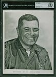 "Vince Lombardi Rare Signed 8"" x 10"" B&W Packers Publicity Photo (JSA)(Beckett/BAS Encapsulated)"