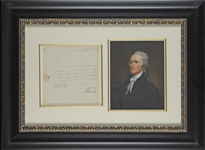 Alexander Hamilton Rare 1792 Early Treasury Document in Custom Framed Display (Beckett/BAS LOA)