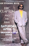 Eric Clapton Rare Signed Concert Poster :: April 3, 1990 :: Meadowlands Arena, New Jersey (Beckett/BAS)