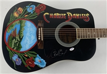 Charlie Daniels In-Person Signed Gibson Maestro Acoustic Guitar with Custom Hand Painted Artwork (PSA/DNA COA)