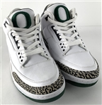 RARE 2011 University of Oregon Player Sample Nike Air Jordan 3 Retro Model Shoes :: Brand New with Original Box (GOAT Shoe Authentication)