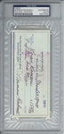 Norman Rockwell Signed 1959 Bank Check (PSA/DNA Encapsulated)