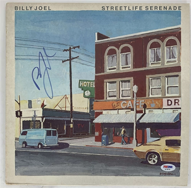 Billy Joel Signed Streetlife Serenade Album Cover (PSA/DNA)