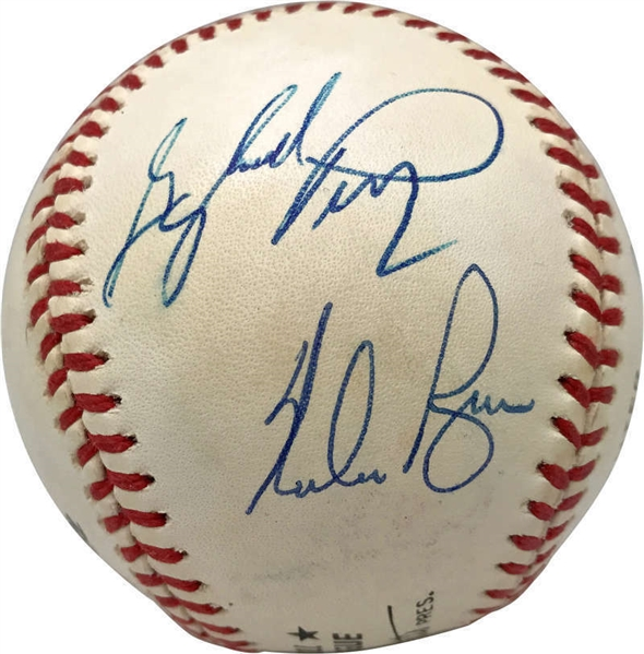 300 Game Winners Multi-Signed OAL Baseball w/ Ryan, Carlton & Others! (PSA/DNA)