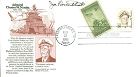 Iwo Jima: Joe Rosenthal Signed 1985 First Day Cover (PSA/DNA)