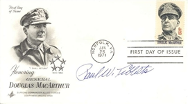 Enola Gay: Paul Tibbets Signed 1971 First Day Cover (Beckett/BAS)
