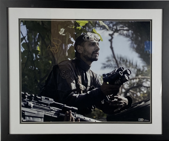 Star Wars: Riz Ahmed Signed 20 x 16 Rogue One Photograph (TOPPS)