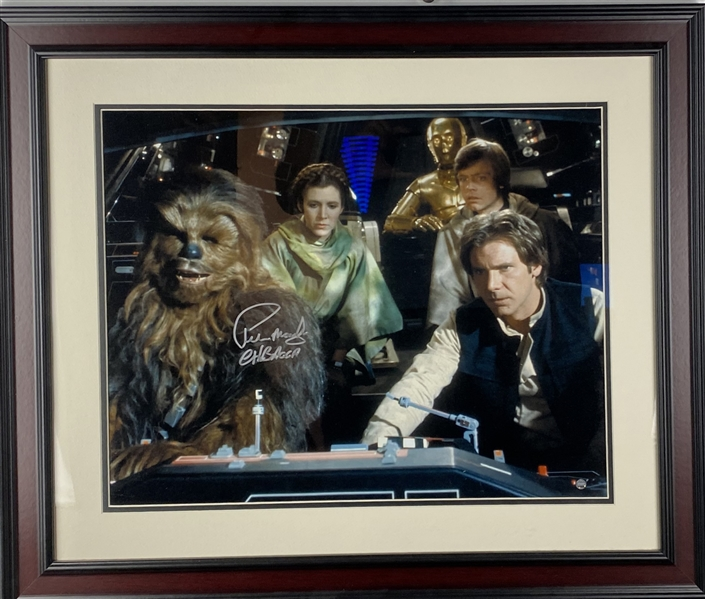 Peter Mayhew Signed Color 16 x 20 Star Wars Photograph (Steiner)