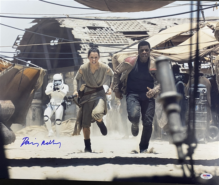 Star Wars: Daisy Ridley Signed  19 x 15.5 Color Photograph (PSA/DNA)