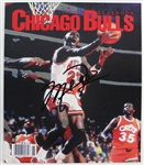 1989-90 Chicago Bulls Team & Staff Signed Souvenir Yearbook with Michael Jordan, Jerry Krause, etc. (12 Sigs)(Beckett/BAS LOA)