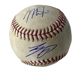 Mike Trout & Shohei Ohtani Dual Signed & Game Used OML Baseball :: Ball Pitched Both Players! (PSA/DNA & MLB)