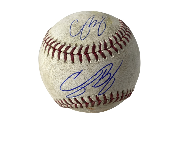 Dodgers Youth Movement: Cody Bellinger & Corey Seager Dual Signed & Game Used 2019 OML Baseball (HR Game for Both) (MLB & PSA/DNA)