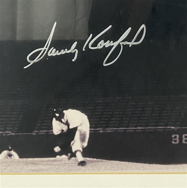 Sandy Koufax Signed 16 x 20 Framed No-Hitter Photograph (Beckett/BAS Guaranteed)