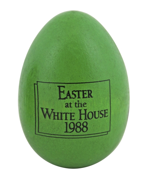 Ronald Reagan & Nancy Reagan Rare Signed 1988 Easter at the White House Wooden Eggs :: PSA/DNA Graded Gem Mint 10 Autographs!